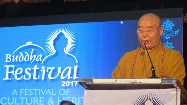 Ven. Renda, Abbot of Boshan Zhengjue Monastery, was invited to attend the opening ceremony of Buddha Festival (a festival of art, culture & heritage) in Nagpur, India.